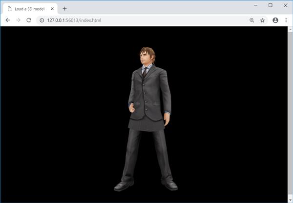 3Dモデル表示