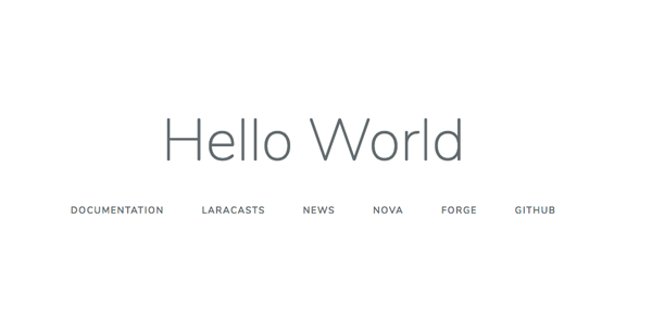 welcome.blade.phpでHello world