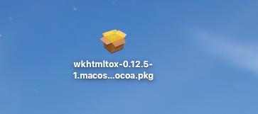 デスクトップにダウンロードしたパッケージ