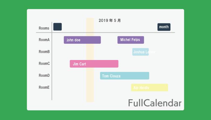 FullCalendar Gantt Chart
