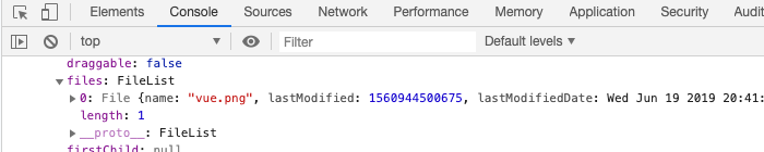 eventのtargetからファイル情報を取得