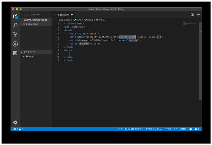 htmlのテンプレートが表示