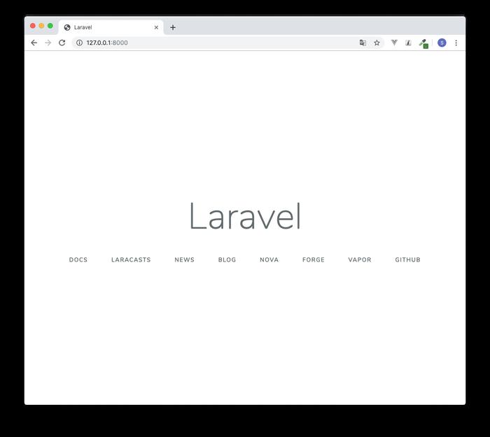 Laravel6.0初期画面