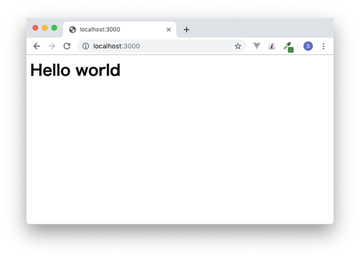 Express.jsでHello World
