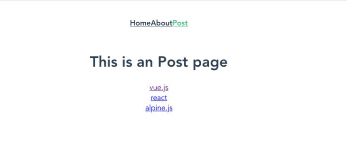 postsをv-forで展開しリンク設定