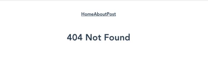 404ページの表示