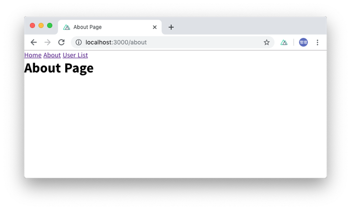 titleタグがAbout Pageに