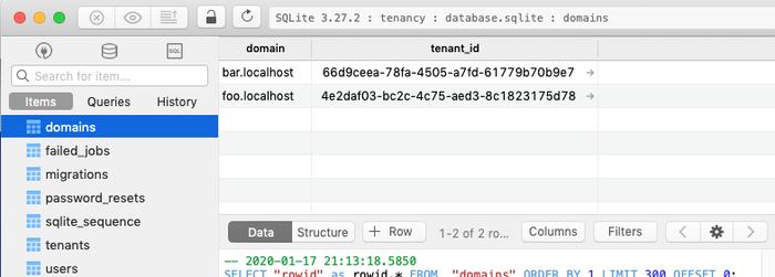 domainsテーブル