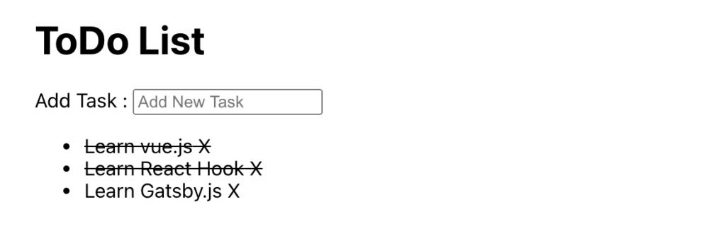 Xをクリックすると横棒表示