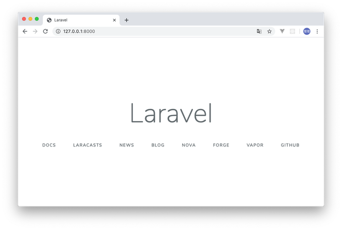 Laravelインストール直後の画面