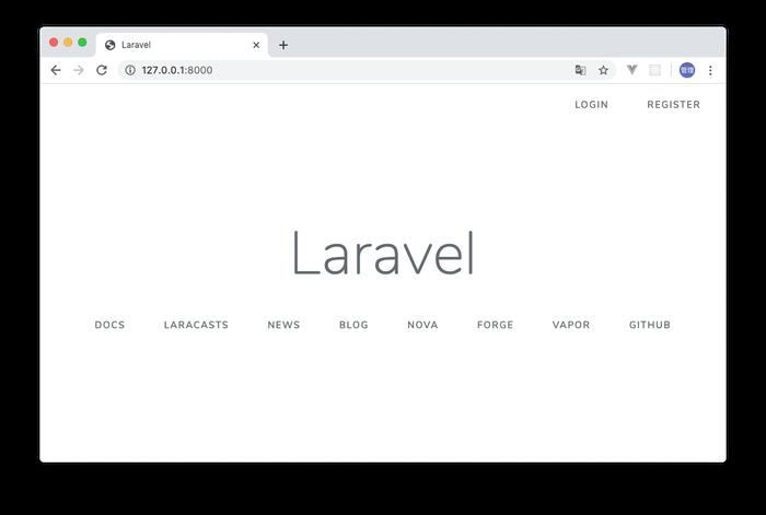 Login, Register画面へのリンク