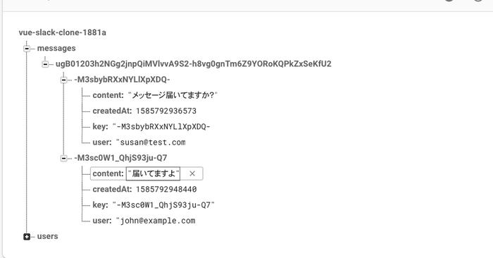 Firebase上でのデータ構造