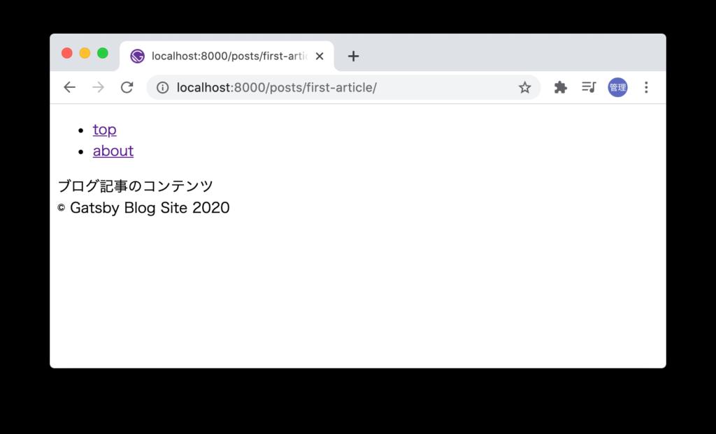slugにアクセスするとページが閲覧できる