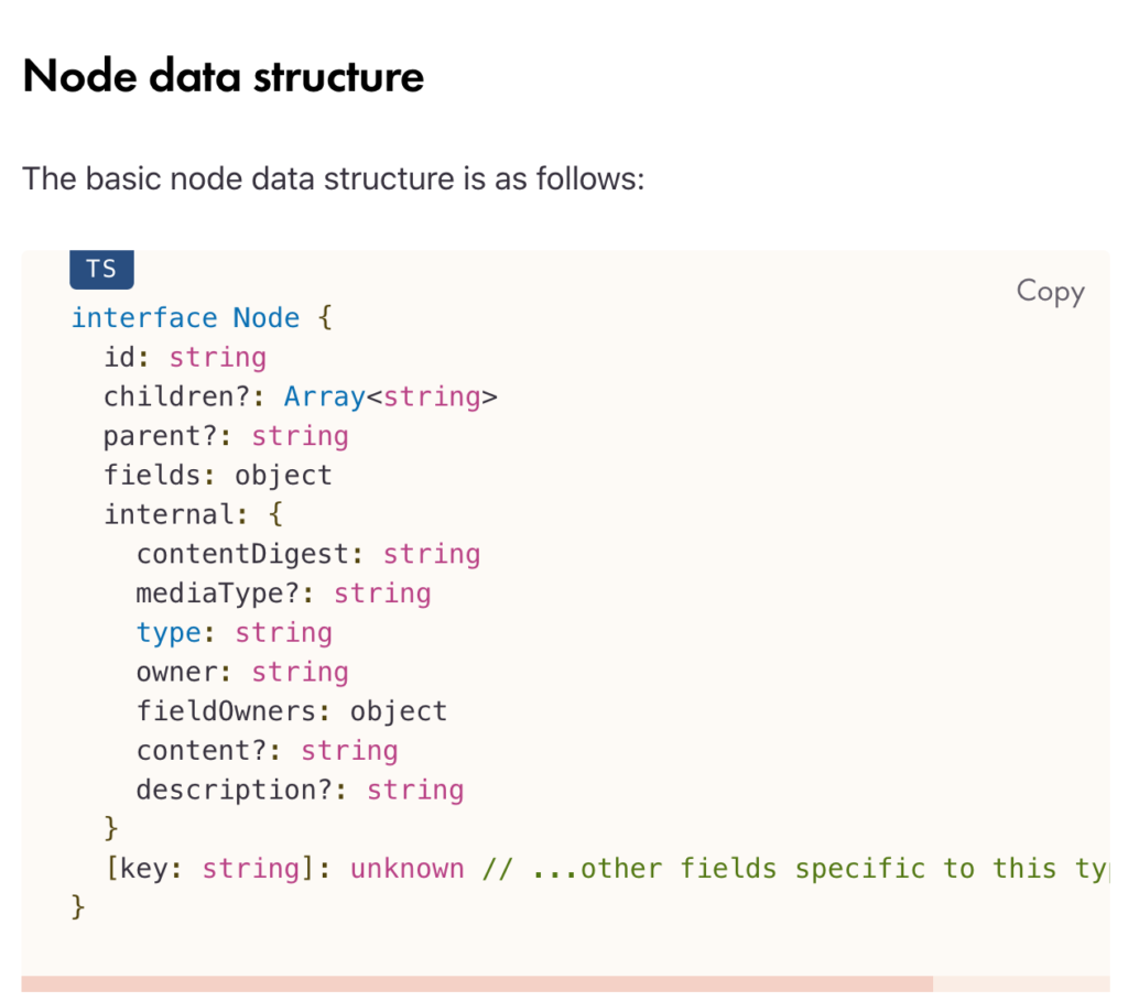 Node Data Structure