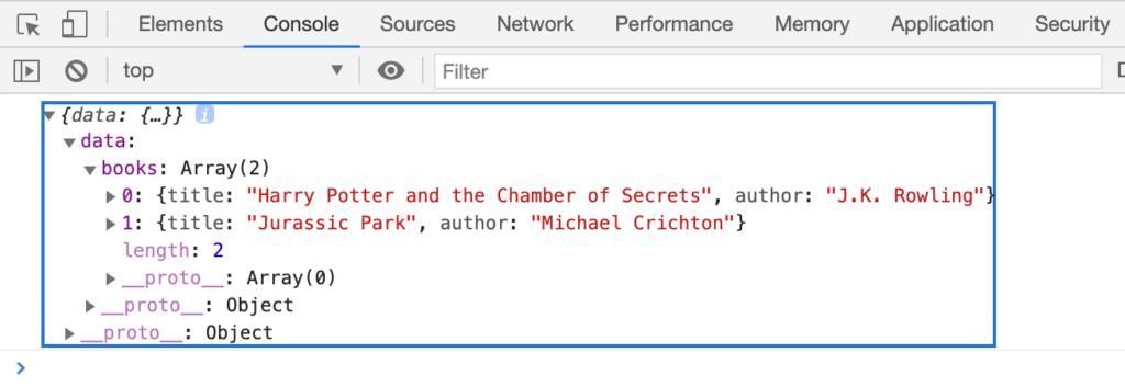 fetchでGraphQLサーバからデータ取得
