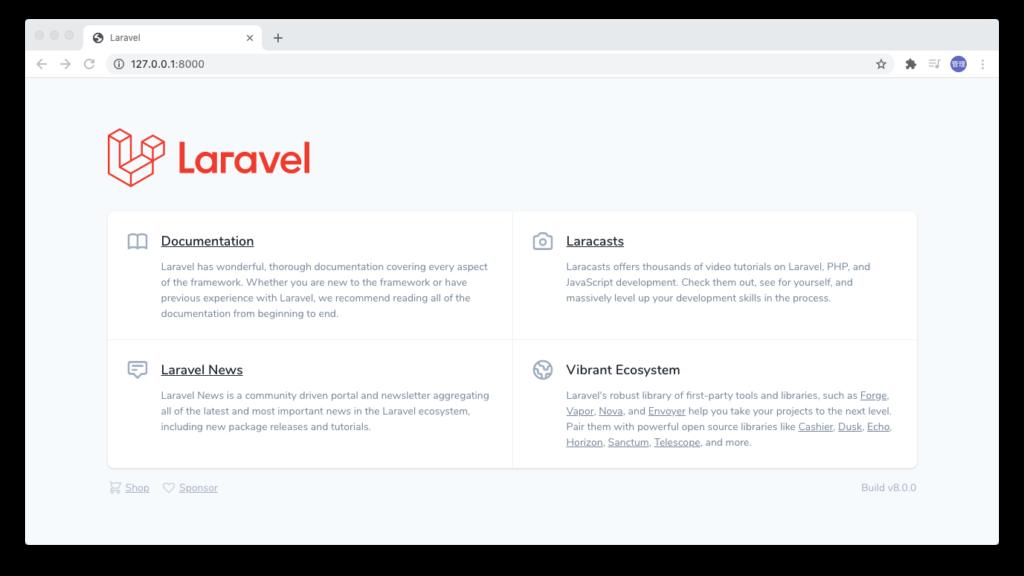 Laravel8 トップページ
