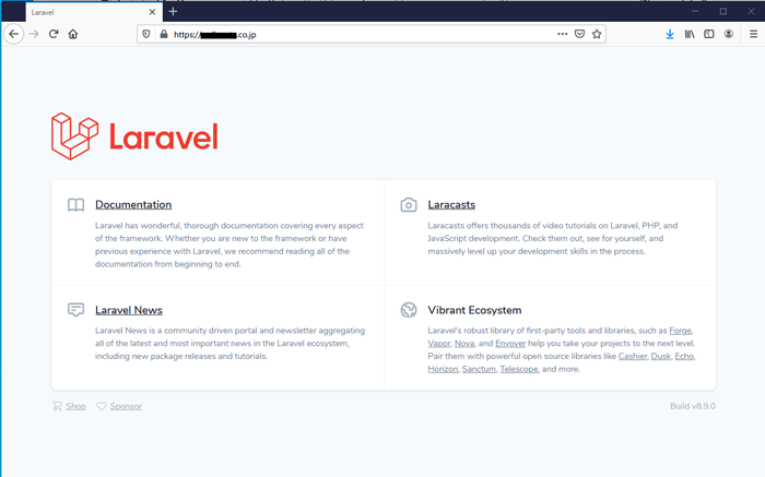 Laravel8初期画面