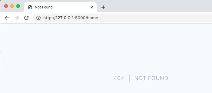 404 NOT FOUNDエラー