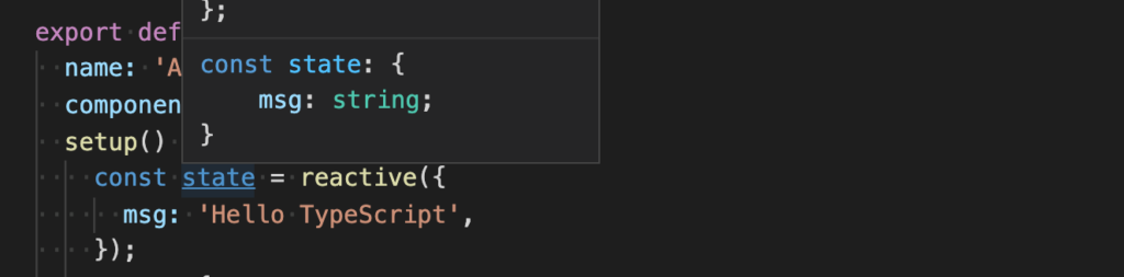 reactiveでdataプロパティを設定