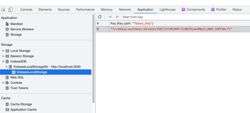 localStorageにfirebaseの認証情報