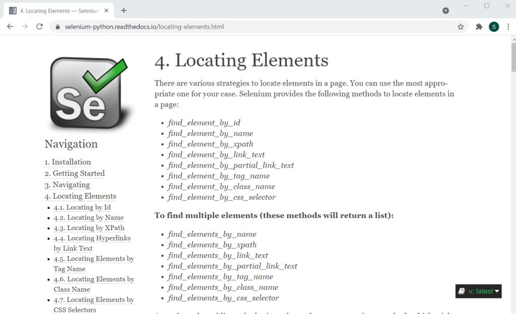 4.Locationg Elements