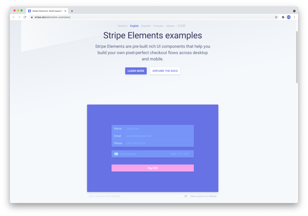 Striple Elementsのカスタマイズ方法